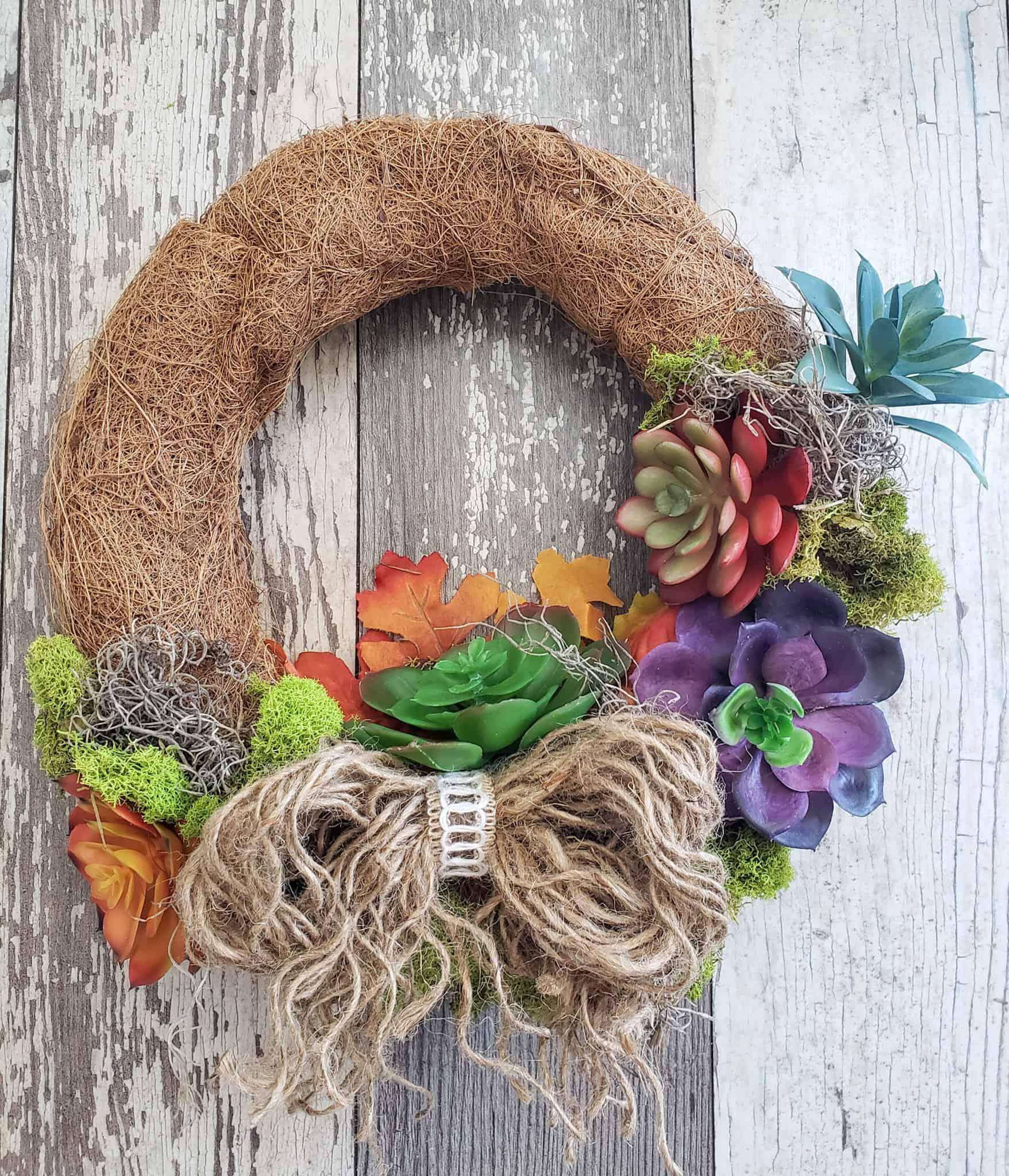 Faux Succulent Wreath Dollar Tree Diy