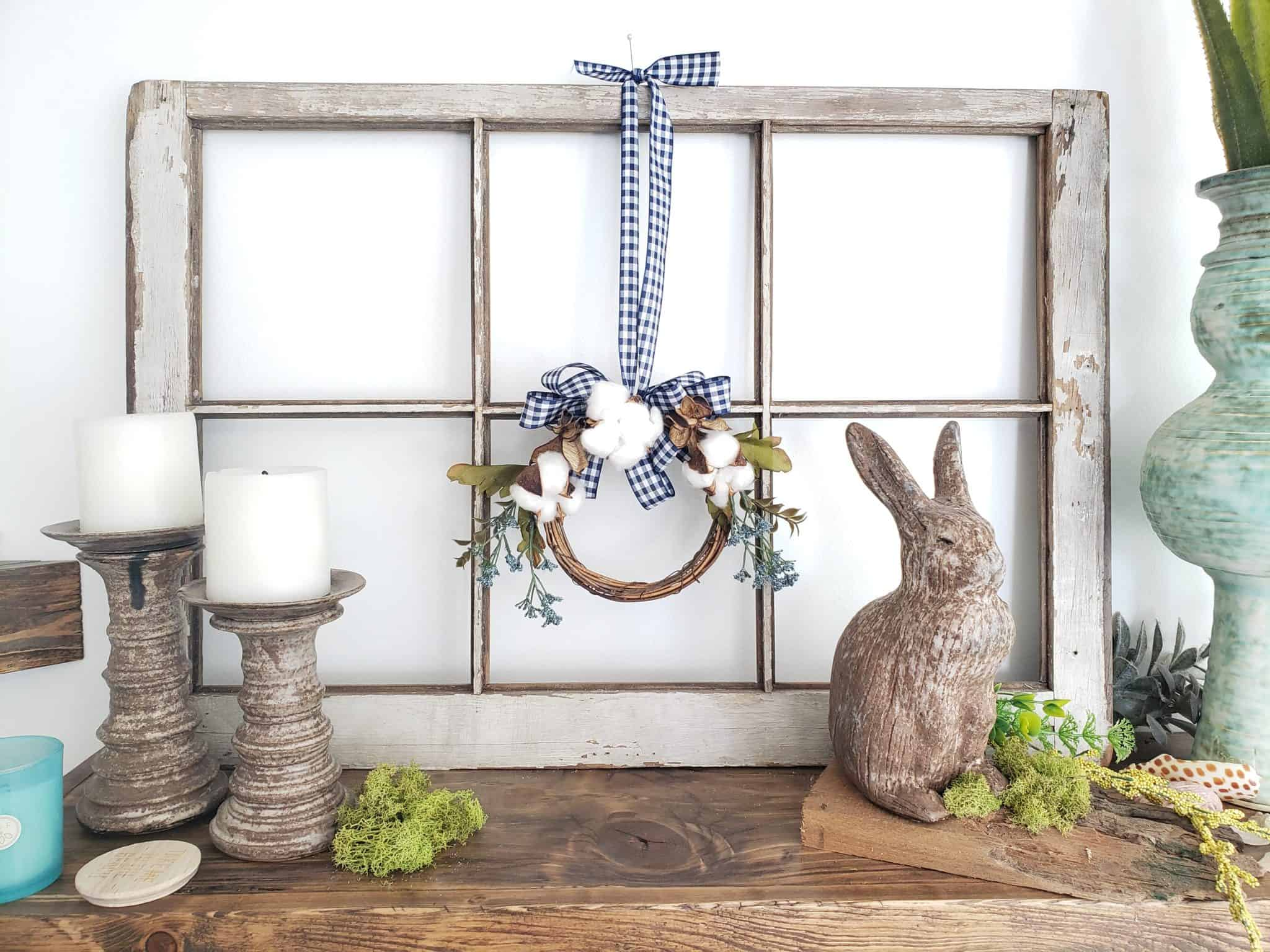 Mini Farmhouse Wreath Diy