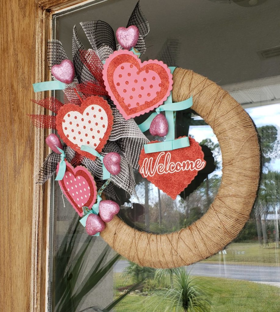 DIY Valentines Day Front Porch on a Budget